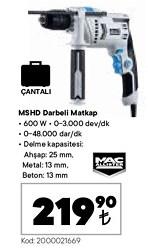 Mac Allister MSHD600 Matkap
