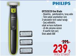 Philips OneBlade QP2520/20 Hibrit Sakal Şekillendirici ve Tıraş Makinesi