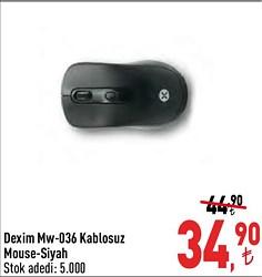 Dexim MW-036 Kablosuz Optik Mouse