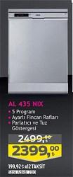 Altus AL 435 NIX A++ 5 Programlı Inox Bulaşık Makinesi