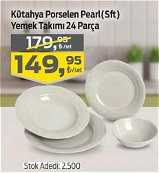 Kütahya Porselen Pearl Yemek Takımı 24 Parça