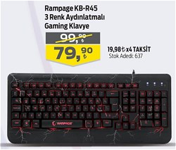 Rampage KB-R45 CRASH Kablolu Klavye