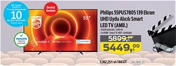Philips 55PUS7805 139 Ekran UHD Uydu Alıcılı Smart Led TV