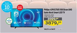 Philips 43PUS7505 108 Ekran UHD Uydu Alıcılı Smart Led Tv