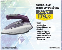 Arzum AR690 Tripper 1150 W Seyahat Ütüsü