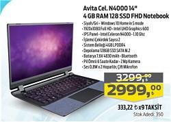 """Avita Essential Intel Celeron N4000 4GB RAM 128GB SSD 14"""" FHD Notebook"""