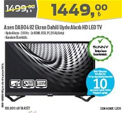 """Axen AX32DAB04 HD 32"""" 82 Ekran Uydu Alıcılı LED Televizyon"""