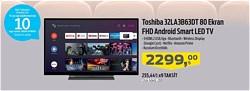 """Toshiba 32LA3B63DT Full HD 32"""" 82 Ekran Uydu Alıcılı Android Smart LED Televizyon"""