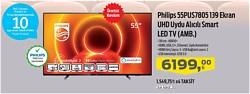 "Philips 55PUS7805 4K Ultra HD 55"" 140 Ekran Uydu Alıcılı Smart LED Televizyon"