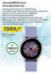 Samsung Galaxy Watch Active 2 40mm Aluminyum SM-R830NZ Akıllı Saat