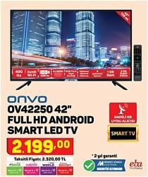 "Onvo OV42250 Full HD 42"" 106 Ekran Uydu Alıcılı Smart LED Televizyon"