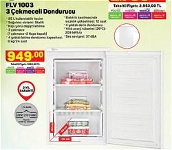 Flavel FLV 1003 3 Çekmeceli Derin Dondurucu