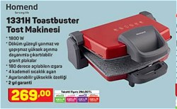 Homend Toastbuster 1331H 1800 W Tost Makinesi