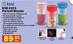 Kiwi KSB-2203 Sport Şarjlı Blender