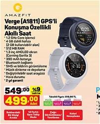 Amazfit Verge Bluetooth GPS Nabız Ölçerli Akıllı Saat