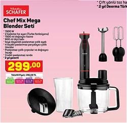 Schafer Chef Mix Mega 1600 W Blender Set