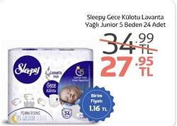 Sleepy Lavanta Yağlı 5 Numara Junior 24'lü Gece Külodu