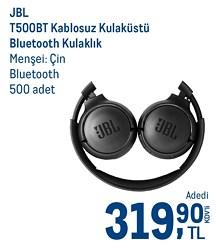JBL T500BT Mikrofonlu Kablosuz Kulak Üstü Bluetooth Kulaklık