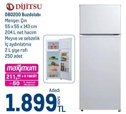 Dijitsu DBD200 Çift Kapılı Buzdolabı