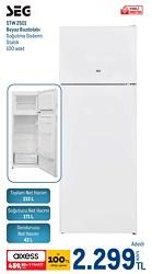 Seg STW 2501 Çift Kapılı Statik Buzdolabı