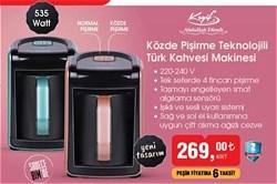 Abdullah Efendi Keyif Közde Pişirme Özellikli Türk Kahve Makinesi