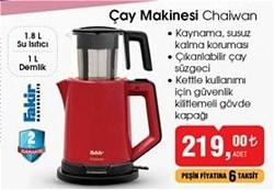 Fakir Chaiwan 1500 W Cam Demlikli Çay Makinesi