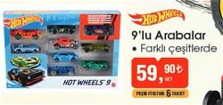 Hot Wheels 9 lu Araba Seti