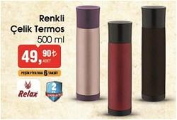 Relax Renkli Çelik Termos 500 ML