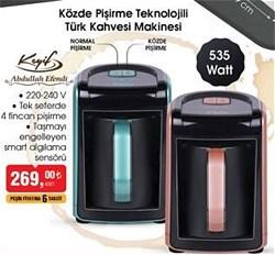 Abdullah Efendi Keyif E-220 Közde Pişirme Özellikli Türk Kahve Makinesi