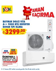 Baymak Dolce Vita 09 A++ 9000 BTU Inverter Duvar Tipi Klima