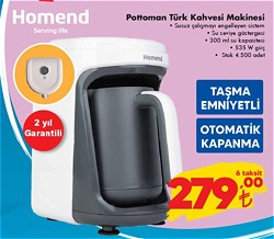 Homend Pottoman 183 Türk Kahve Makinesi