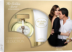 Antonio Banderas Her Golden Secret EDT 80 ml + Body Lotion 100 ml Kadın Parfüm Seti Ürün Resmi