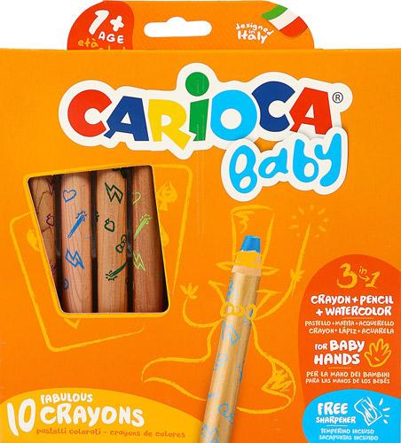 Carioca 3 In 1 Jumbo Bebek Ahsap Govdeli 10 Lu Boya Kalemi