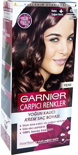 Garnier Color Sensation Carpici Renkler 4 15 Buzlu Kestane Sac