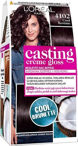 Loreal Paris Casting Creme Gloss 4102 Cool Kestane Sac Boyasi