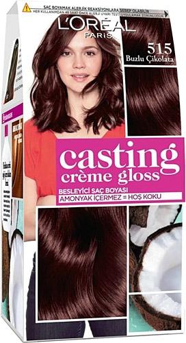 Loreal Paris Casting Creme Gloss 515 Buzlu Cikolata Sac Boyasi