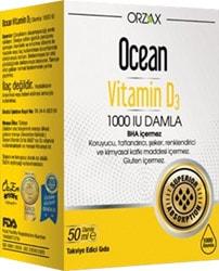 Ocean Vitamin D3 1000 Iu 50 Ml Damla