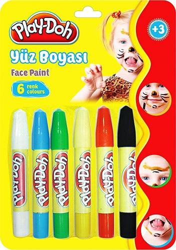 Play Doh 6 Renk Yuz Boyasi Yuz Boyama Kalemi Fiyatlari