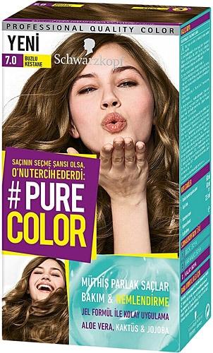 Pure Color 7 0 Buzlu Kestane Sac Boyasi Fiyatlari Ozellikleri Ve