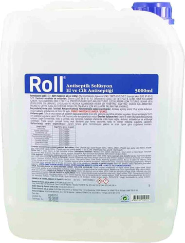 roll antiseptik solusyon 5 lt el dezenfektani