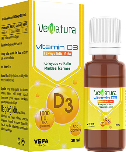 Venatura Vitamin D3 Damla 20 Ml Fiyatlari Ozellikleri Ve Yorumlari En Ucuzu Akakce